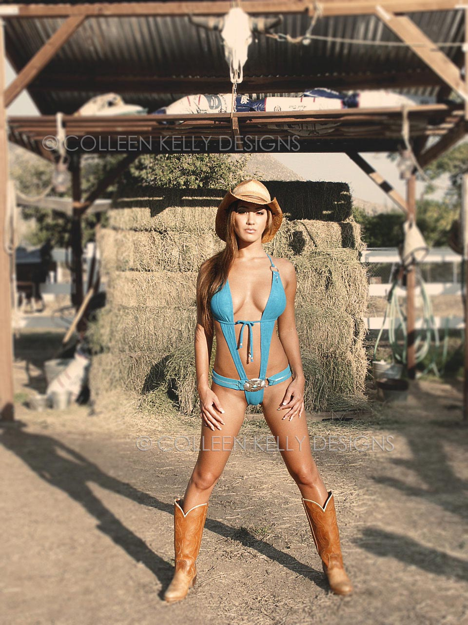 Colleen Kelly Designs Swimwear Style #1209 Image of Buckle Slingshot One-Piece