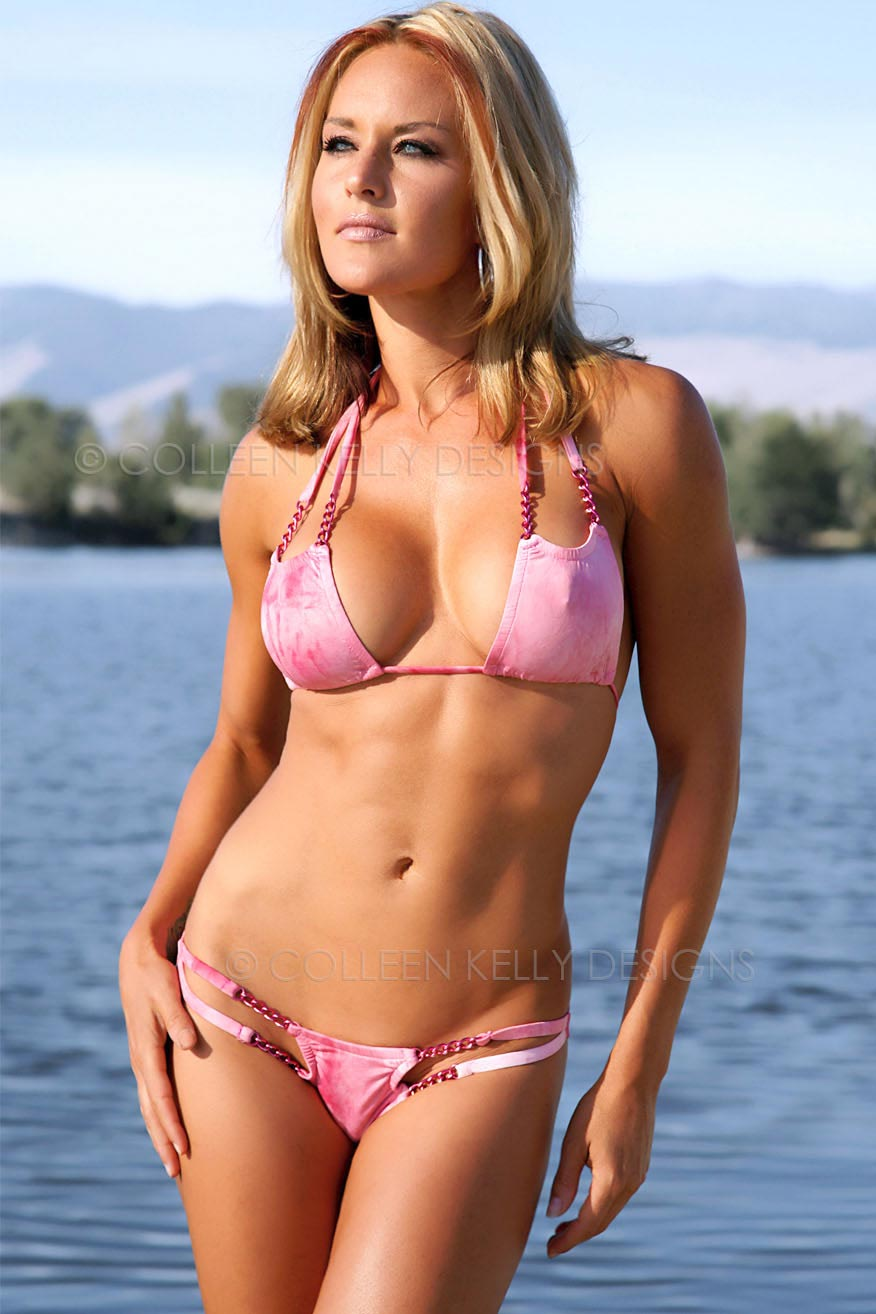 Colleen Kelly Designs Swimwear Style #1833 Image of Marble Scooped Chain Bikini