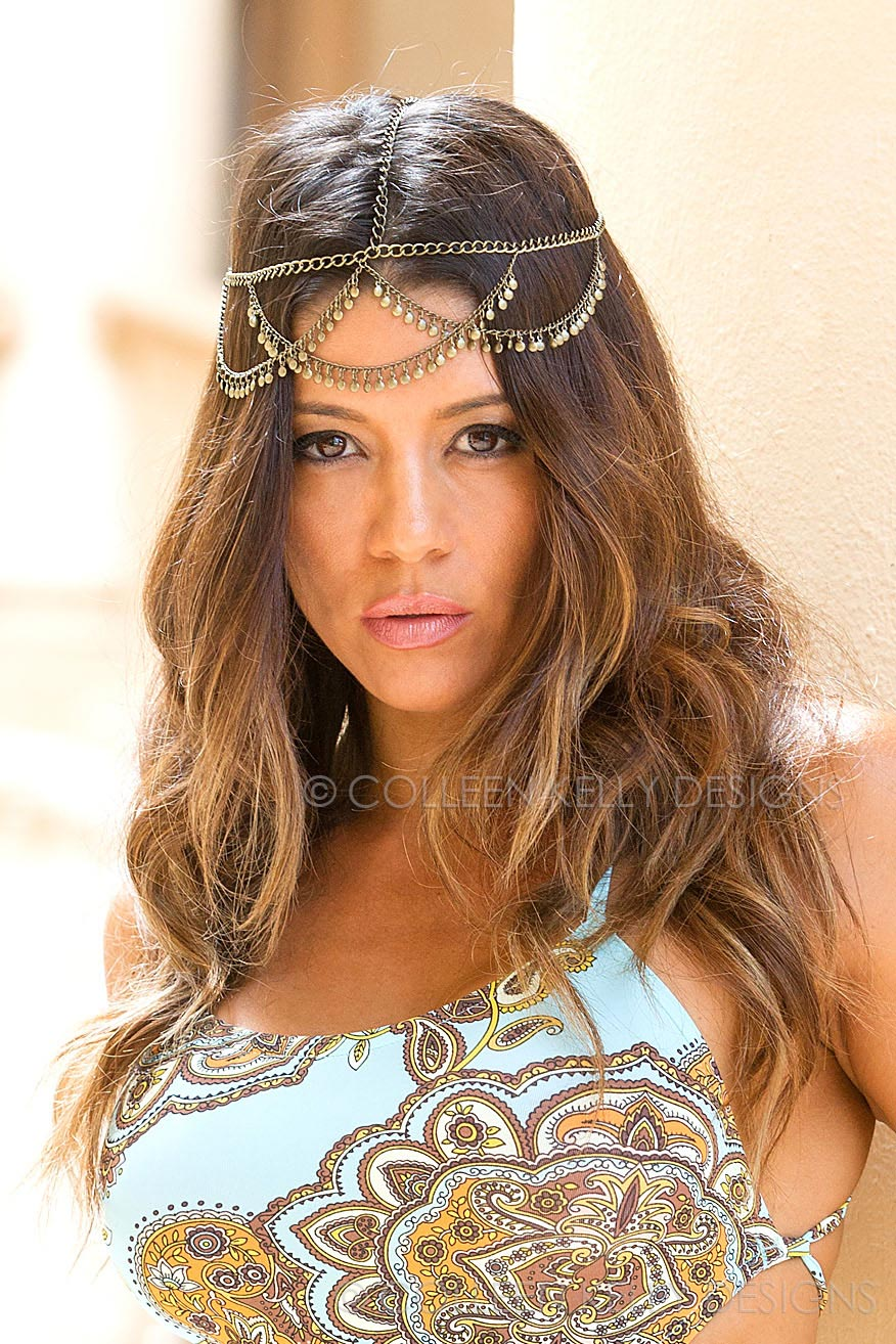 Colleen Kelly Designs Swimwear Style #2028 Image of Venetian Head Piece