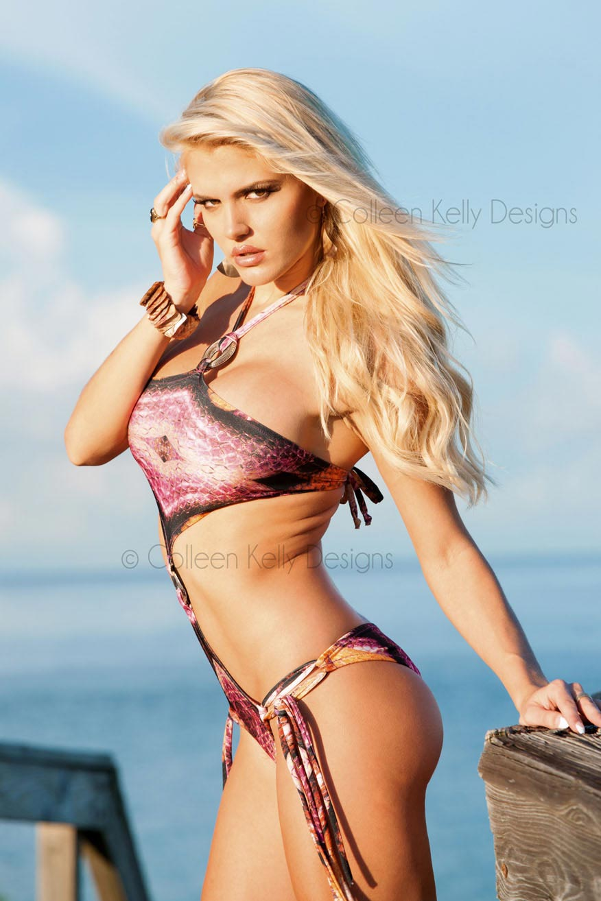 Colleen Kelly Designs Swimwear Style #2110 Image of Dragon Slayer Monokini