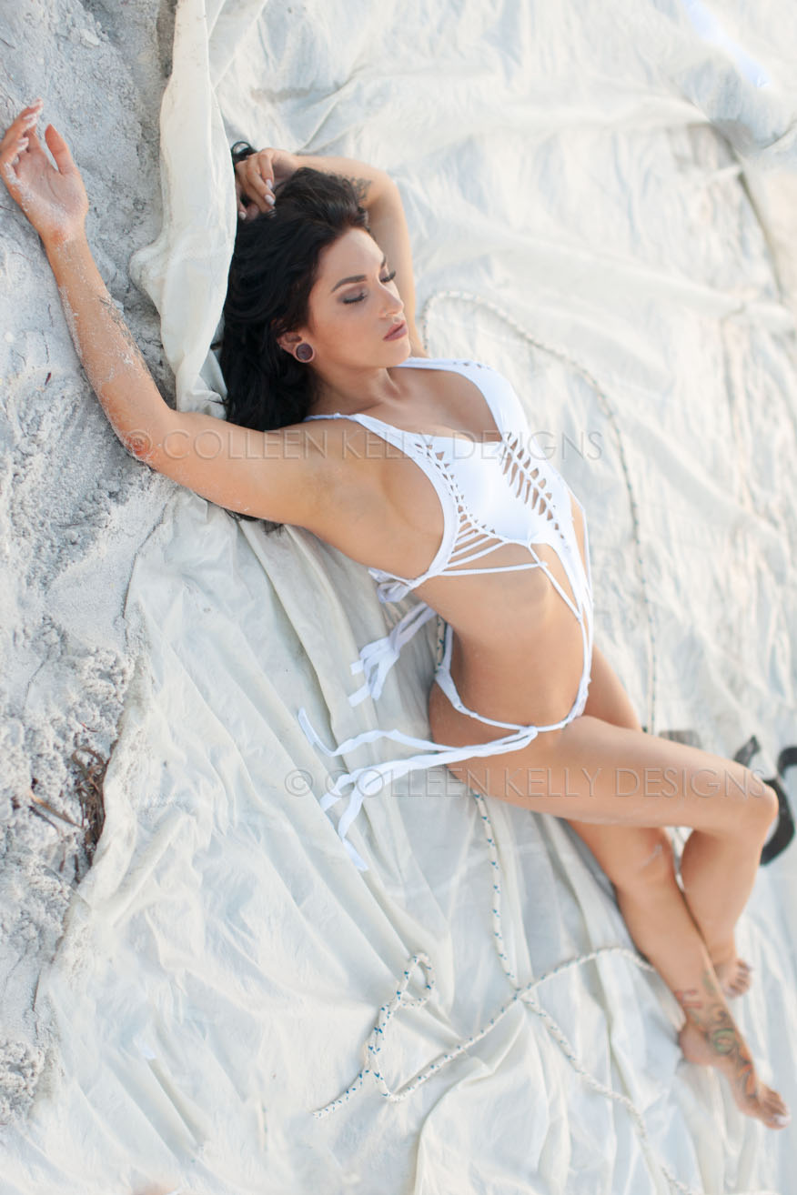 Colleen Kelly Designs Swimwear Style #2209 Image of Shredded One Piece Swimsuit