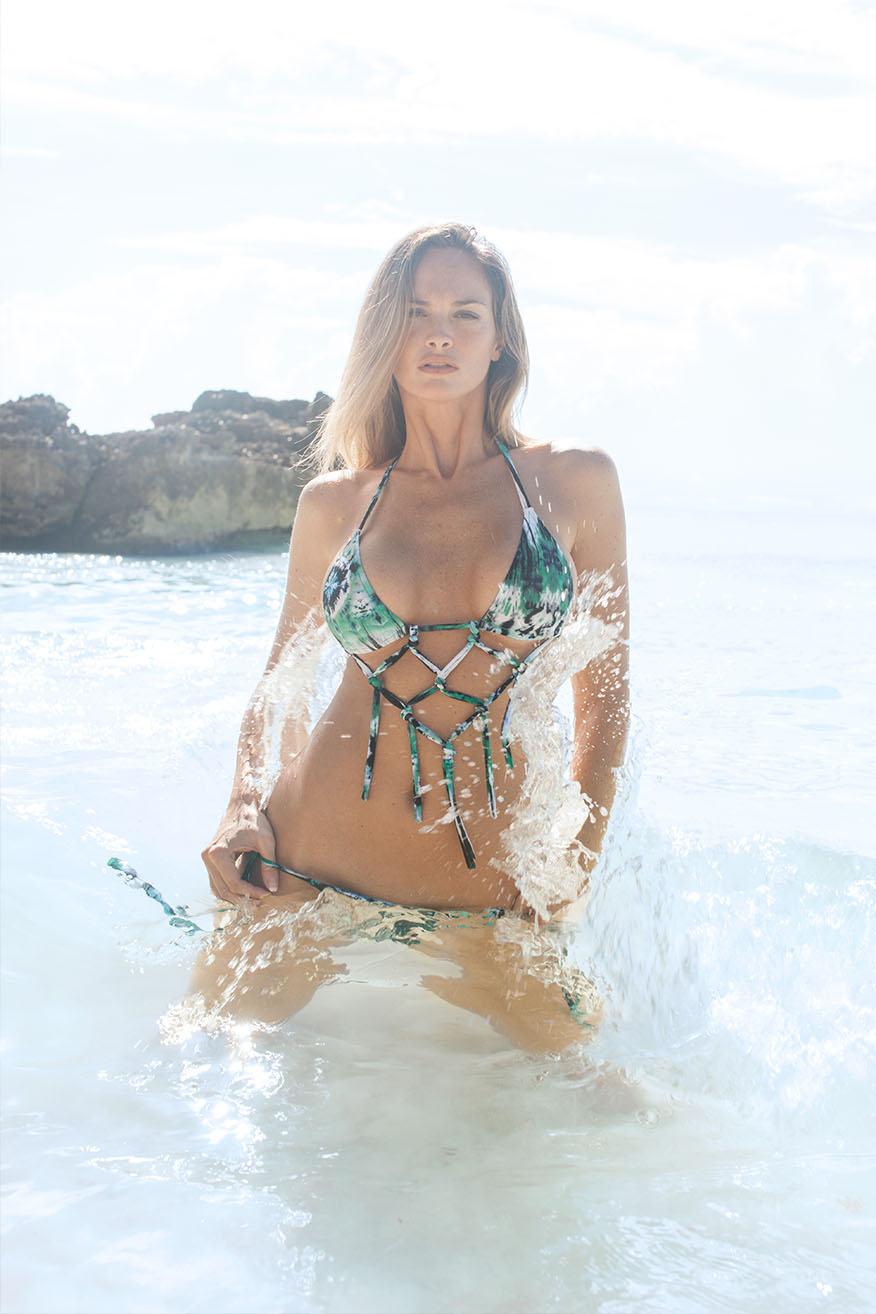 Colleen Kelly Designs Swimwear Style #2323 Image of Fringe Front Microkini