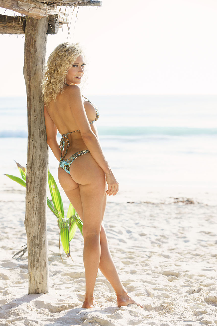 Colleen Kelly Designs Swimwear Style #2330 Image of Brass Chain Microkini