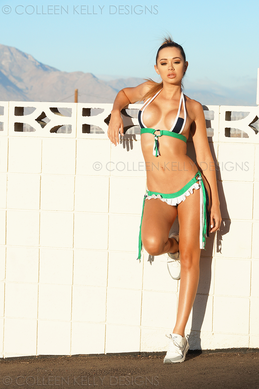 Colleen Kelly Designs Swimwear Style #2419 Image of Pleated Skirt Sporty-Kini