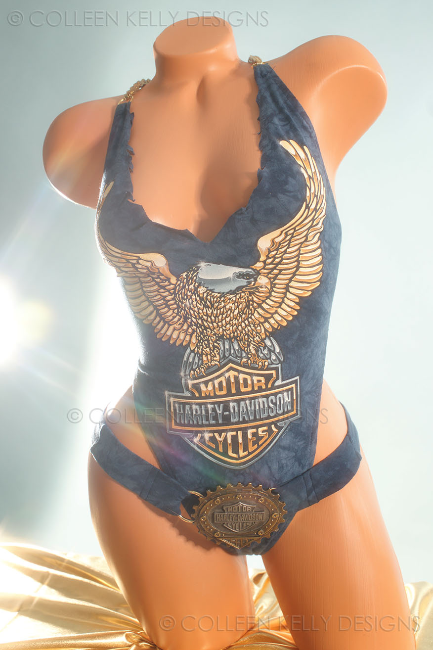 Colleen Kelly Designs Swimwear Style #251 Image of Gold Chrome Eagle