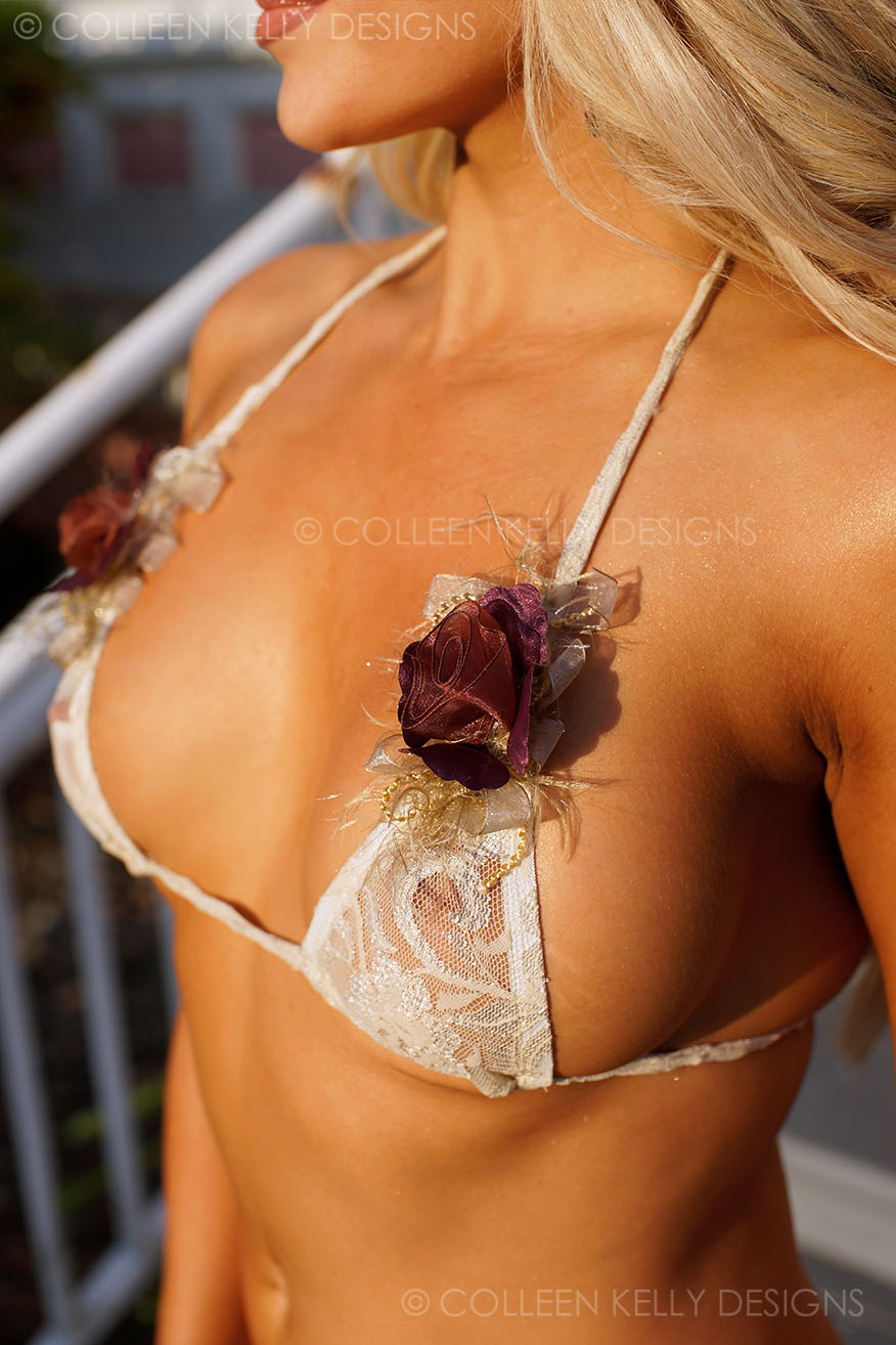 Colleen Kelly Designs Swimwear Style #2718 Image of Fluffy Flowers Microkini