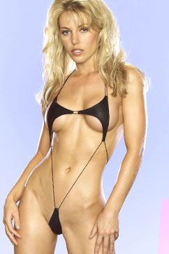 Colleen Kelly Designs Swimwear Image: Pleather Arrow Sling Microsling