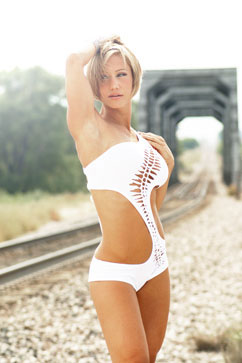 Colleen Kelly Designs Swimwear Image: Shredded Swerve One Piece
