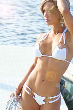 Colleen Kelly Designs Swimwear Image: Scooped Open-Tri Two-Piece Bikini