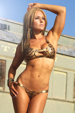 Colleen Kelly Designs Swimwear - Image: Metallic Jungle Panelkini