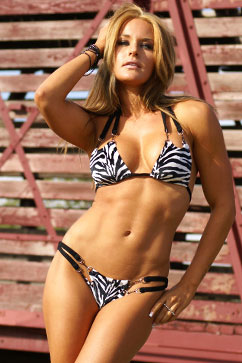 Colleen Kelly Designs Swimwear Image: Jungle Open-Tri Two-Piece Bikini