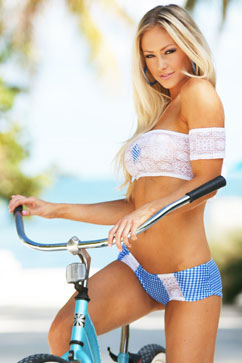 Colleen Kelly Designs Swimwear Image: Hearts & Lace Hot Pants Two-Piece