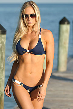 Colleen Kelly Designs Swimwear - Image: Nautical Halter Bikini