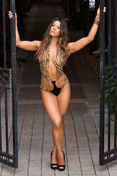 Colleen Kelly Designs Swimwear Image: Lace Pillar One-Piece