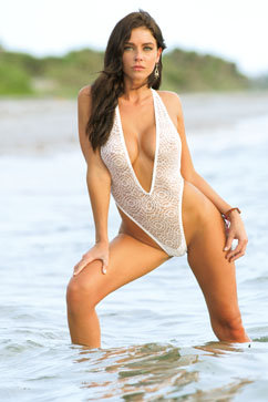 Colleen Kelly Designs Swimwear Image: Italian Lace One-Piece