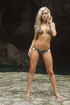 Colleen Kelly Designs Swimwear Image: Jungle Lace Spikey Microkini