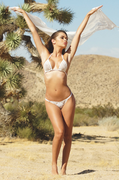 Colleen Kelly Designs Swimwear Image: Crochet Lace 2-Piece Bikini Top