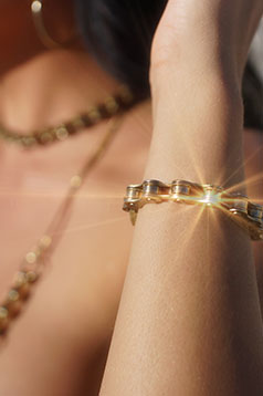 Colleen Kelly Designs Swimwear Image: Biker Jewelry - Bike Chain Bracelet