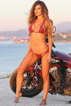 Colleen Kelly Designs Swimwear Image: Biker Chain Flame-Kini