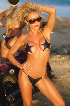 Colleen Kelly Designs Swimwear Image: Biker Chain Star-Kini