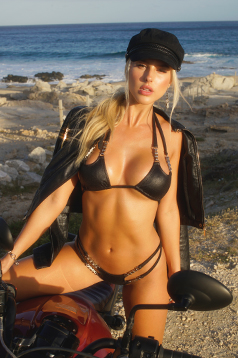 Colleen Kelly Designs Swimwear Image: Biker Chain Scooped 2-Piece