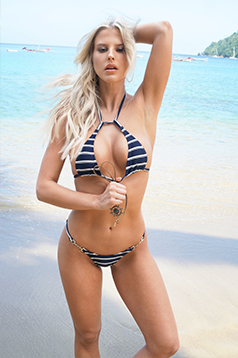 Colleen Kelly Designs Swimwear Image: Nautical Drop-Top 2-Piece