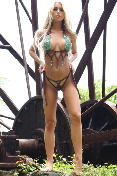 Colleen Kelly Designs Swimwear Image: Stoney Beads Tassel-Kini