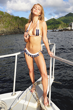 Colleen Kelly Designs Swimwear Image: Nautical Skirtlet-Kini