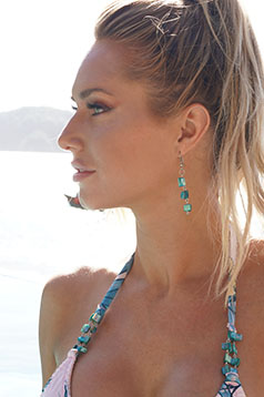 Colleen Kelly Designs Swimwear Image: Shell Chip Earrings